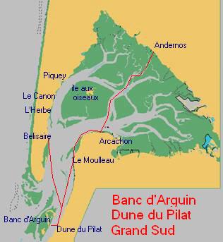 Circuit en bateau du Banc d'Arguin, Dune du Pilat