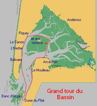 Circuit en bateau du Grand Tour du Bassin